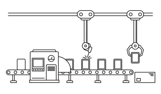 Best Production Line Illustrations, Royalty.
