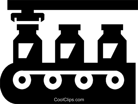 assembly line Royalty Free Vector Clip Art illustration.