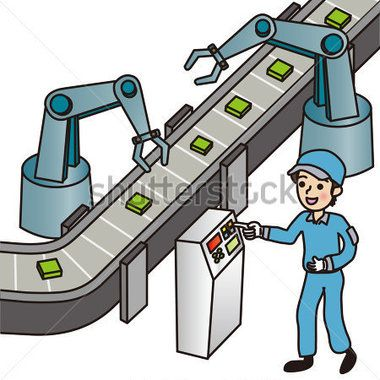 Assembly Line Worker Clipart.