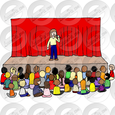 School Assembly Clipart.