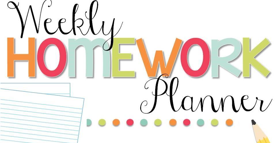 Weekly Homework Planner.