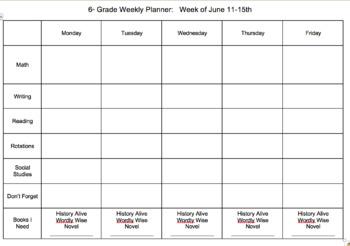 Homework With Calendar Template & Worksheets.