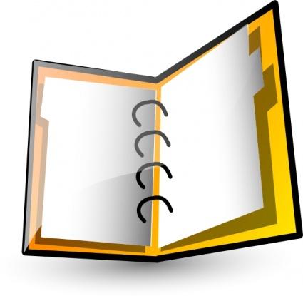 Assignment book clipart.