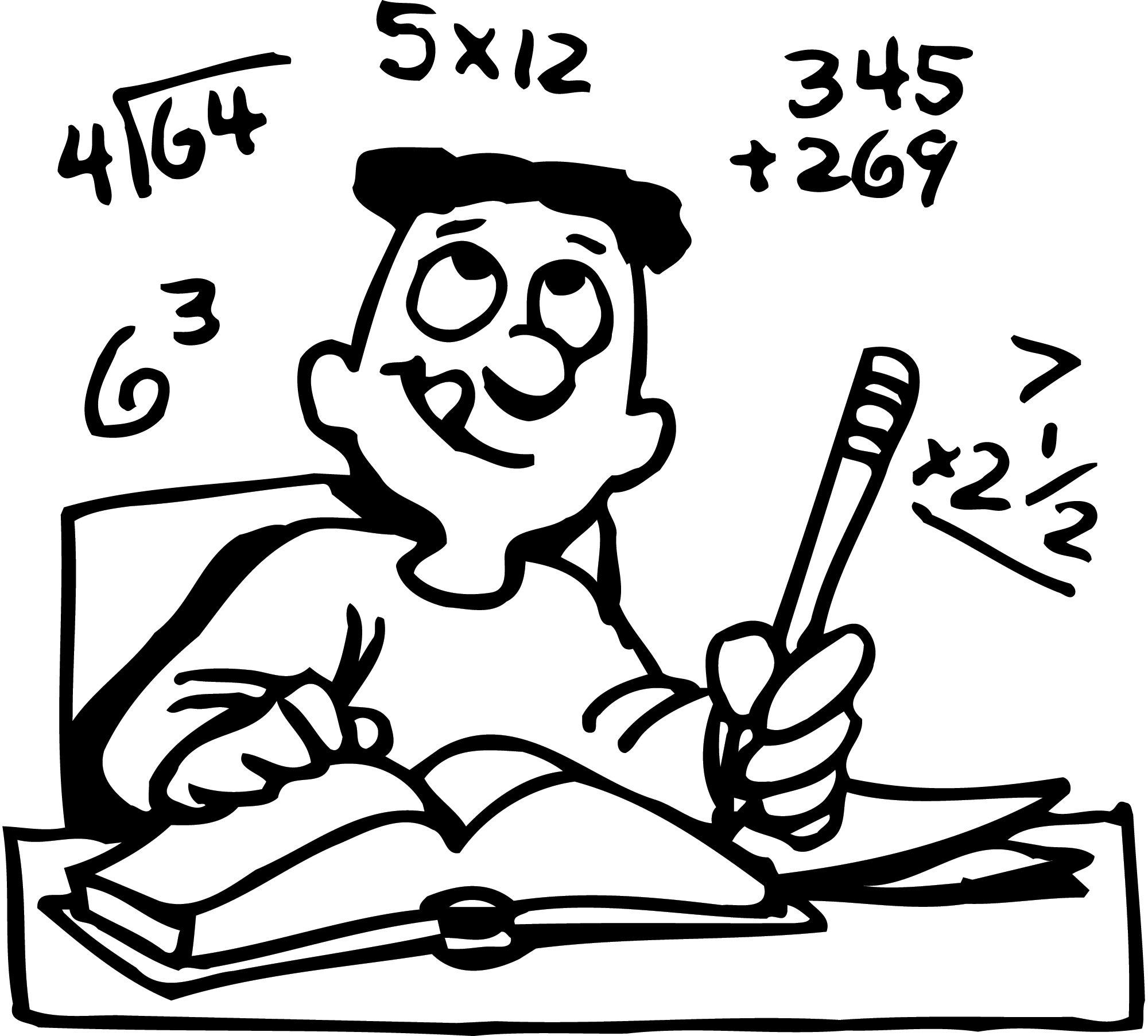 math homework clipart.