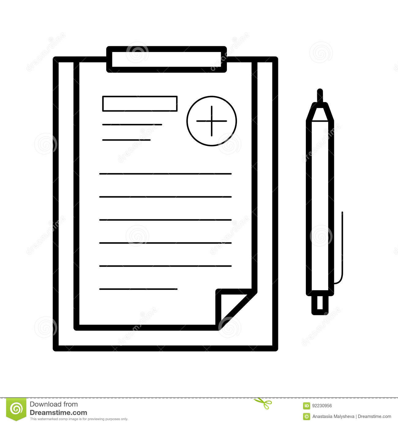 Assignments Sheet Icon, Vector Illustration Stock Vector.