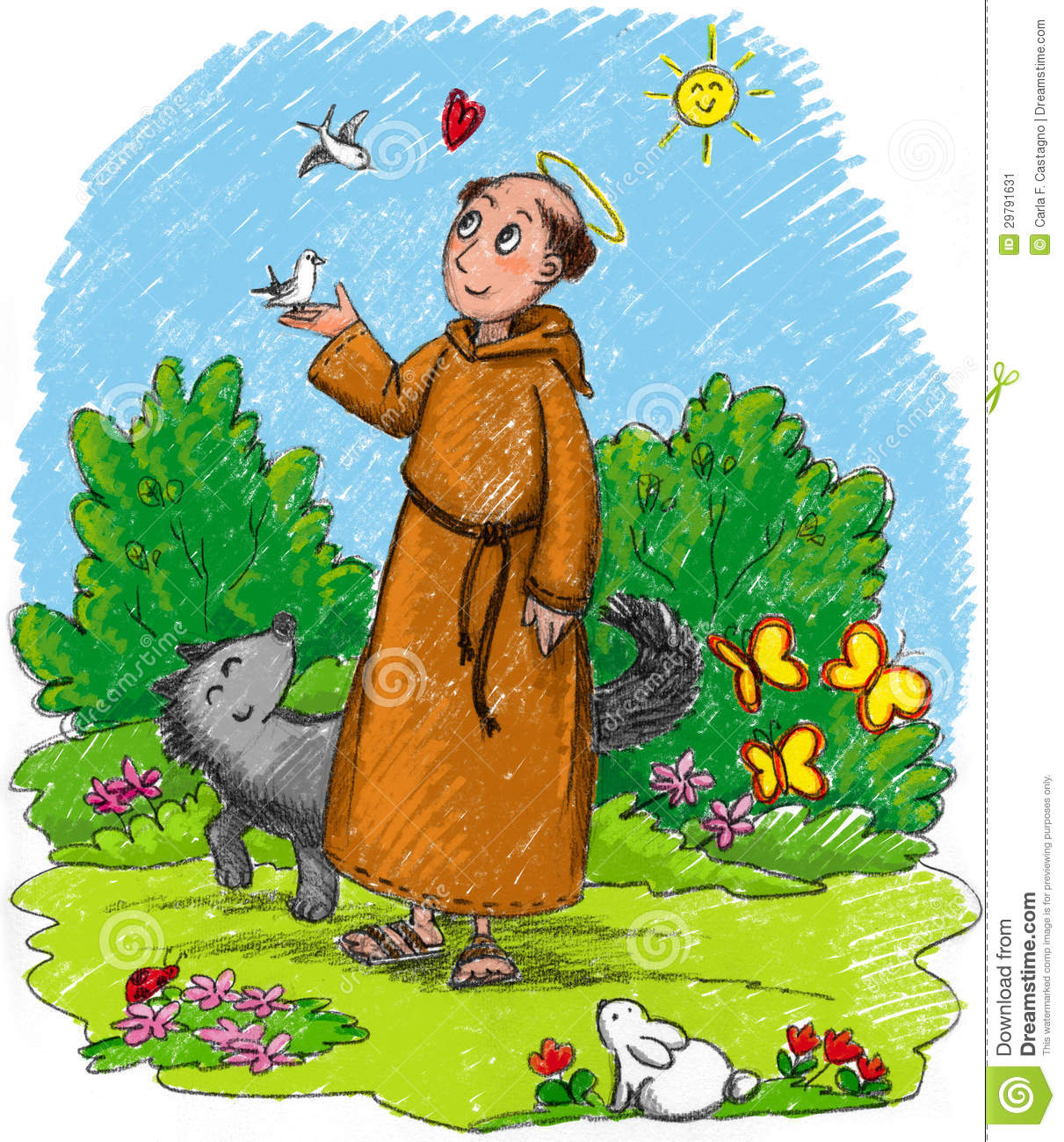 St francis of assisi clipart.