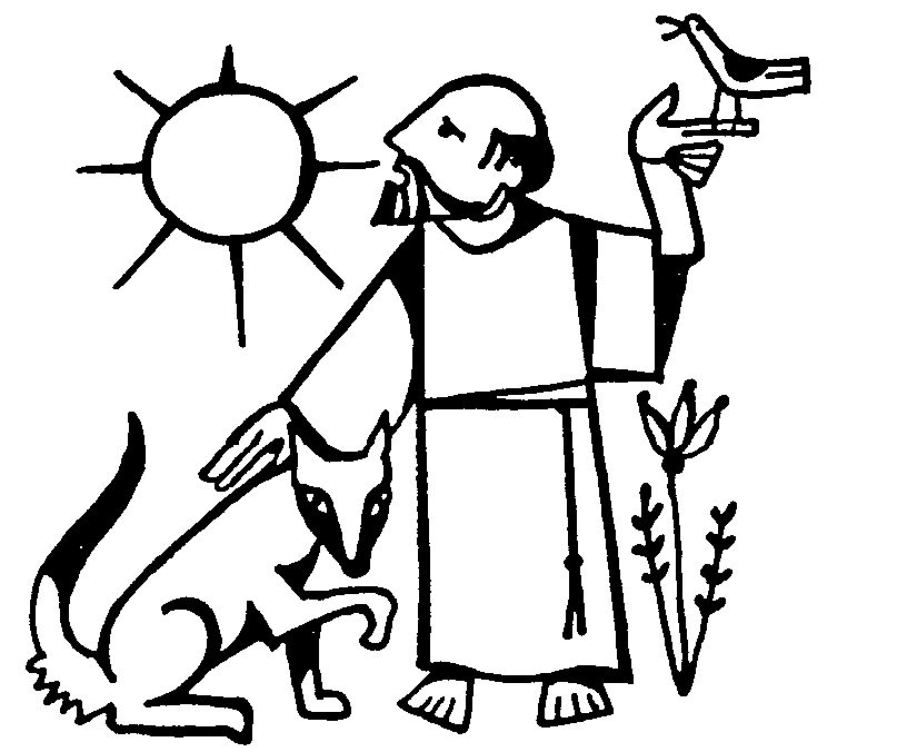 st francis coloring page - assisi clipart clipground