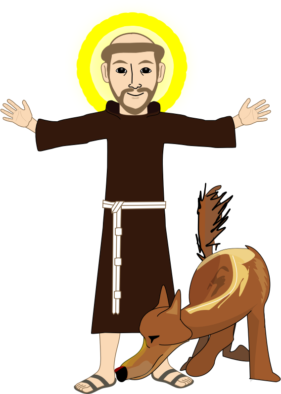 Free Saint Francis de Assisi Clip Art.