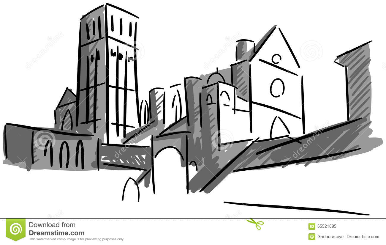 Assisi Italy Stock Illustrations.