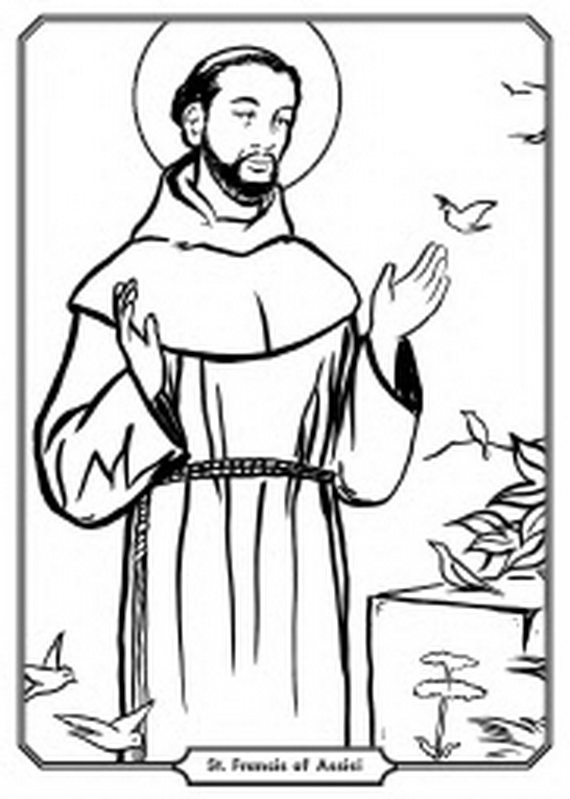 Francis of Assisi Clip Art.