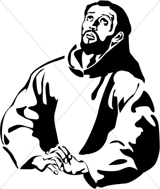 St. Francis of Assisi Clipart.