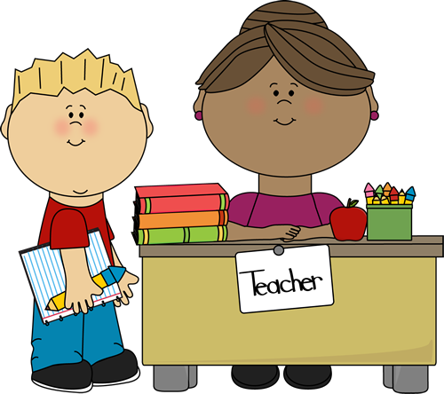 kids sitting with teacher clipart #3
