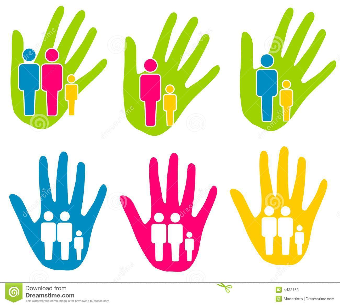 Family Support Assistance Clip Art Stock Photos.