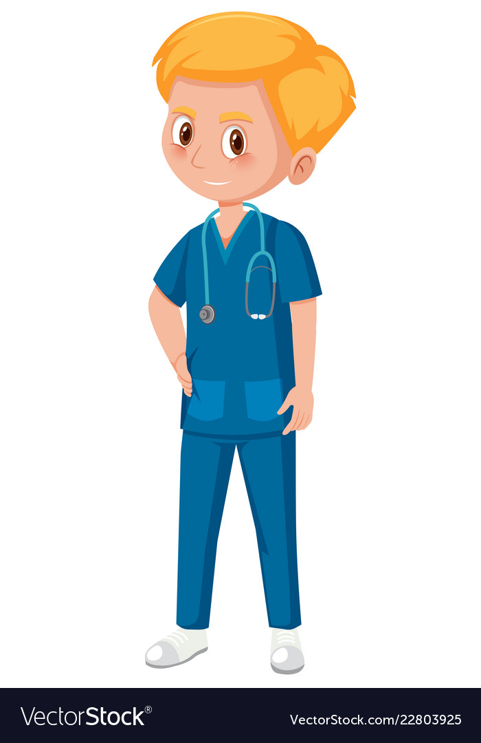 A male medical assistant.