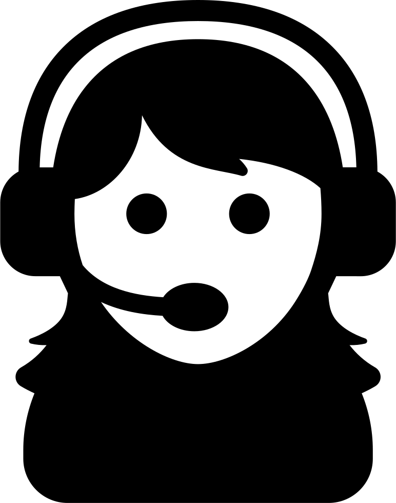 Female Assistant Of A Call Center Svg Png Icon Free Download (#38266.