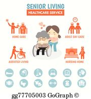 Senior Living Clip Art.
