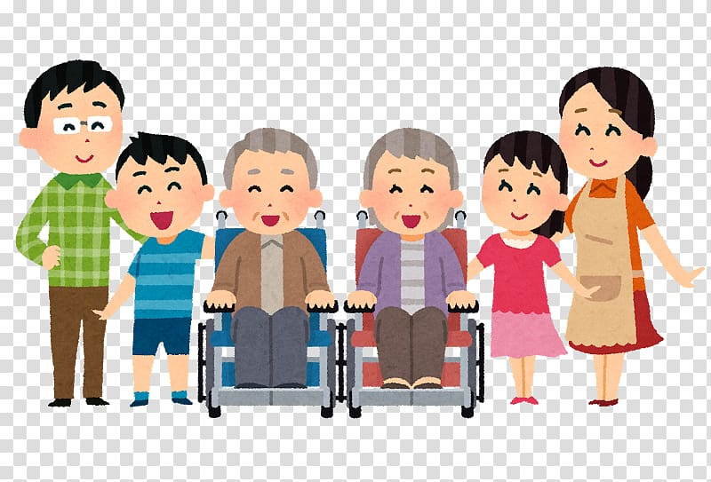 Caregiver Old Age Home Disability Assisted living, Large.