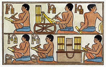 Amazon.com: Egyptian Scribes Nscribes Squatting At Their.