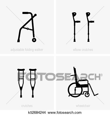 Assistive device icons Clipart.