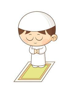Islamic prayer clipart.