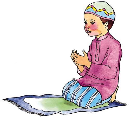 Islamic Salat Clip Art.