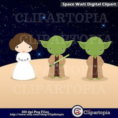 50% OFF SALE Space Wars Digital Clipart / Star wars by ClipArtopia.