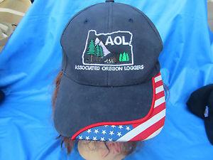 AOL ASSOCIATED OREGON LOGGERS BASEBALL HAT ADULT/TEEN ADJUSTABLE.