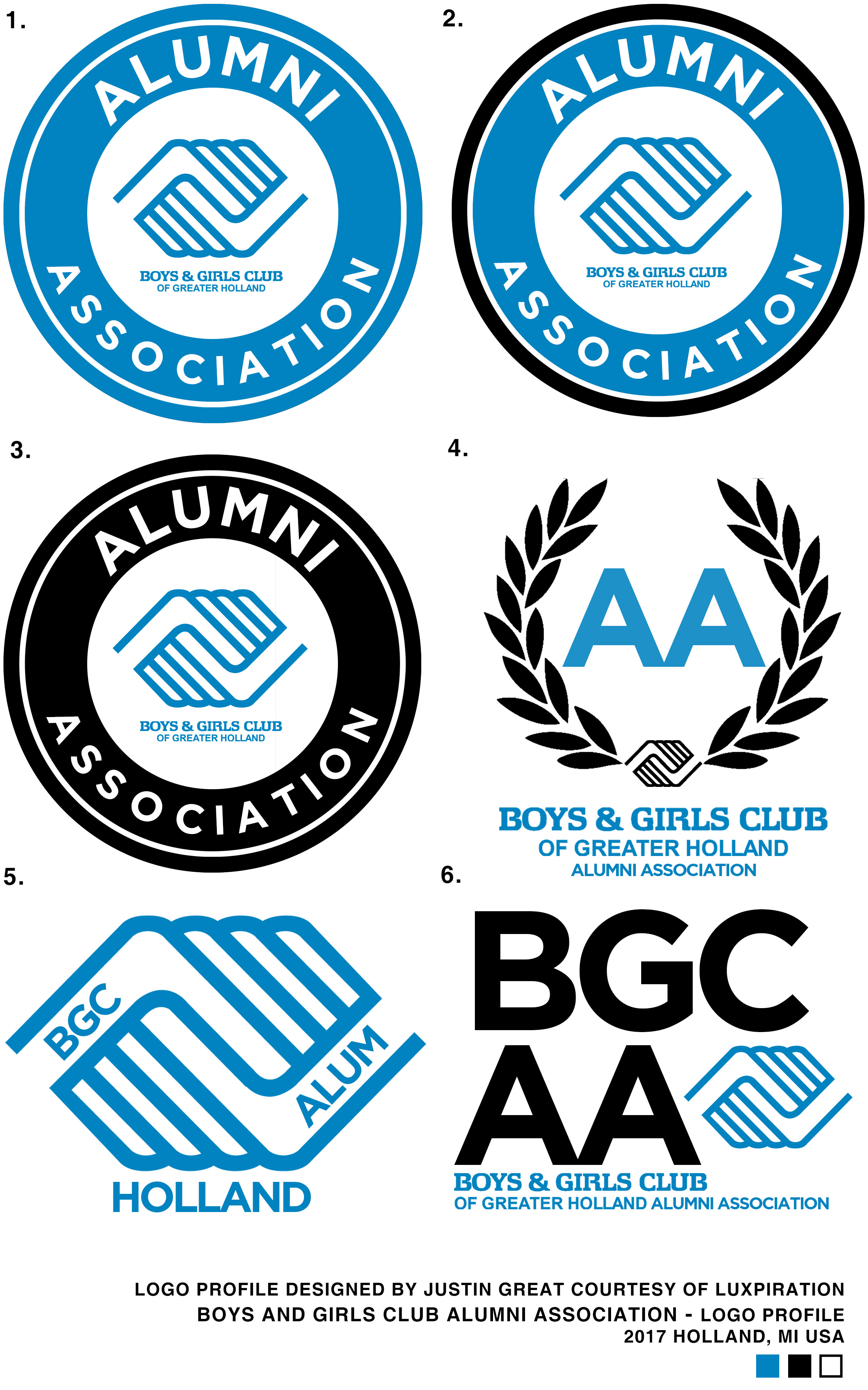 Boys and Girls Club Alumni Association Logo.