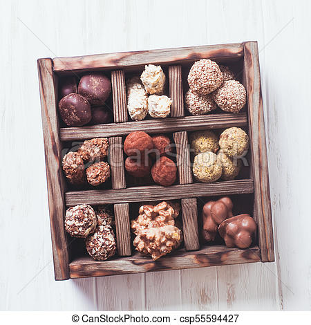 Chocolate candy box.