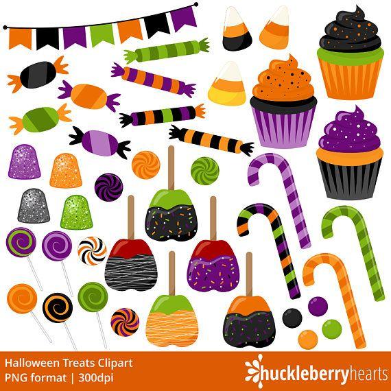 Halloween Candy Clipart, Halloween Clipart, Candy Clip Art.