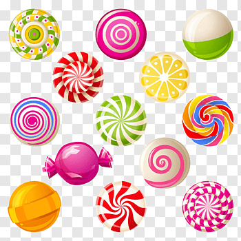 Candy cutout PNG & clipart images.