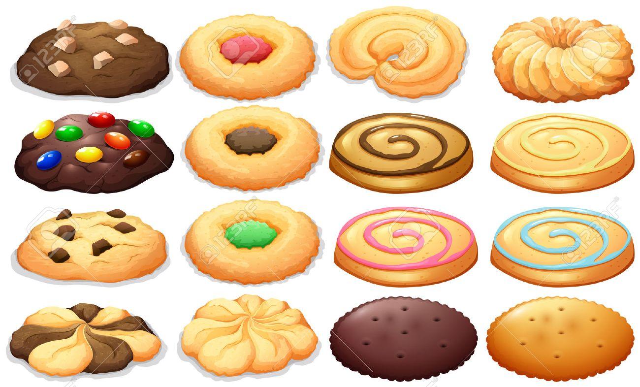 Assorted Cookies Clipart.