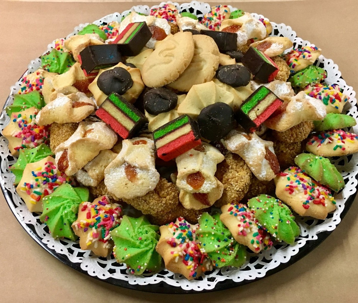 Assorted Italian Cookie Tray.