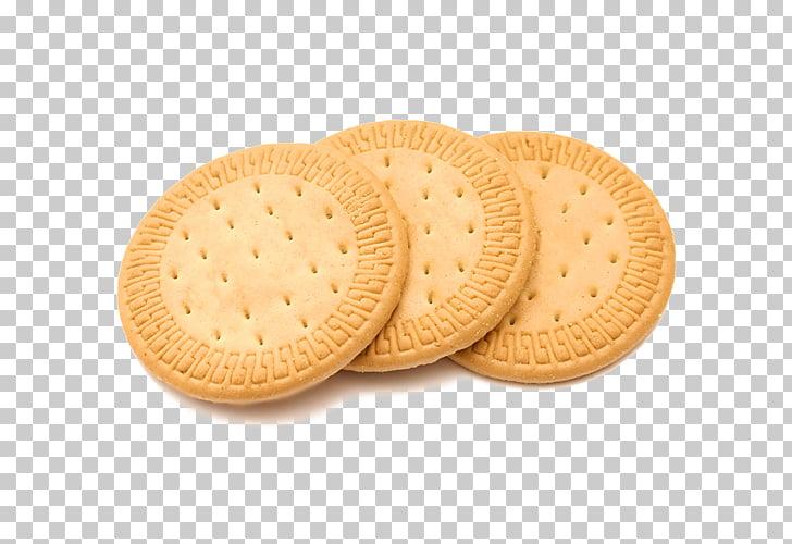 Marie biscuit Milk Breakfast Natillas, Three round cookies.