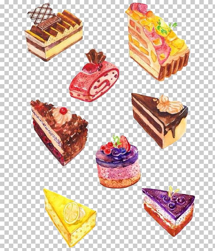 Food Dessert Drawing Illustration, cake, illustration of.