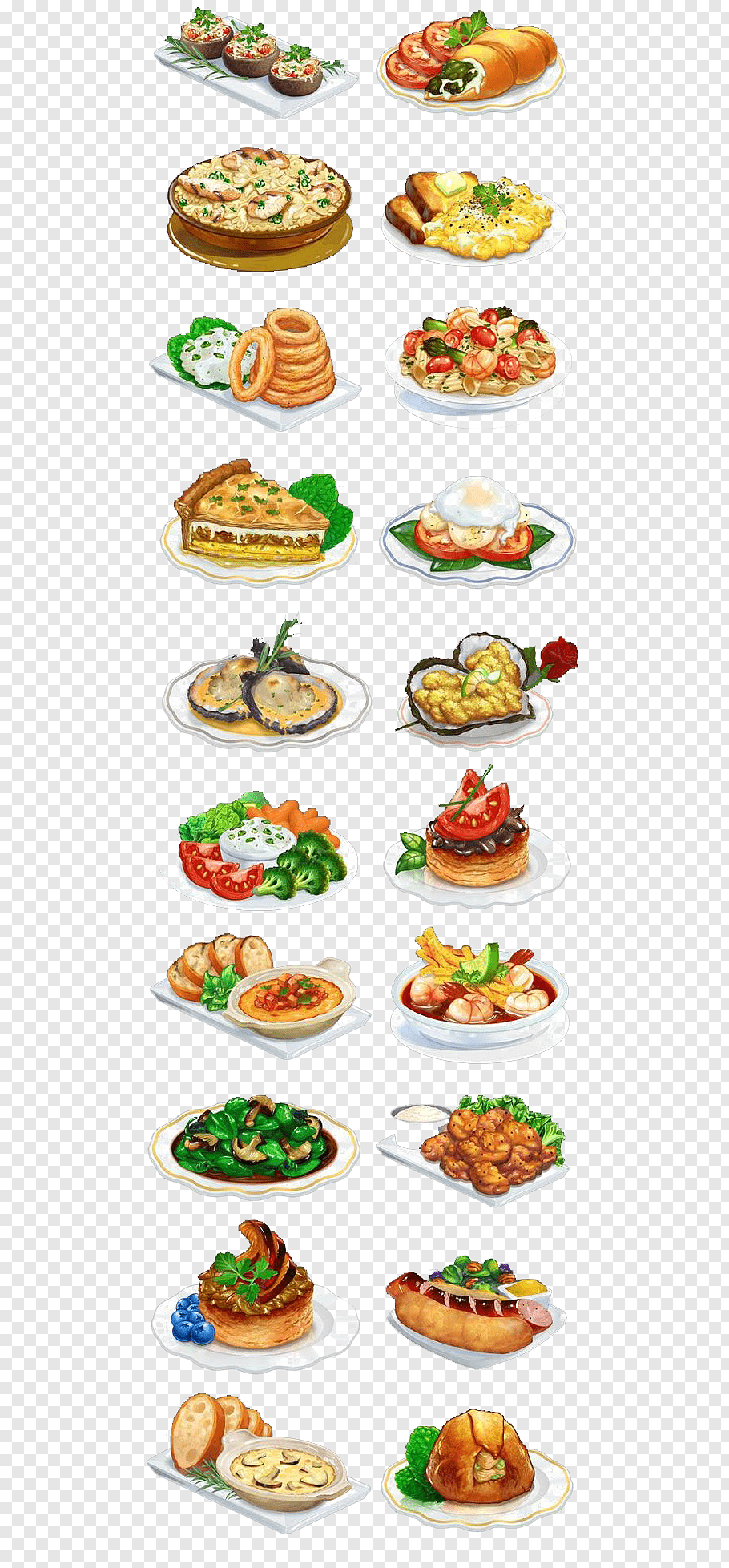 Assorted food illustration, Doughnut Food Dish, food free.