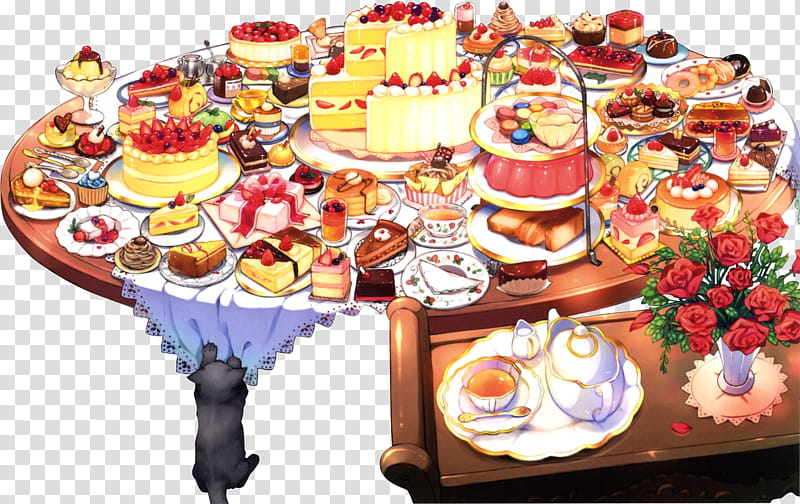 Mini, assorted foods transparent background PNG clipart.