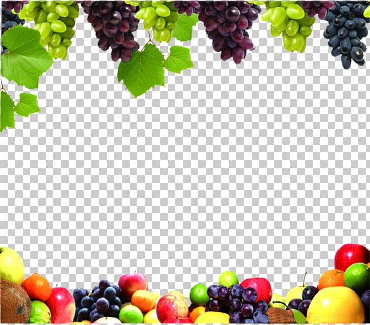 Juice Fruit Vegetable Food Grape, Fruit Border, assorted.