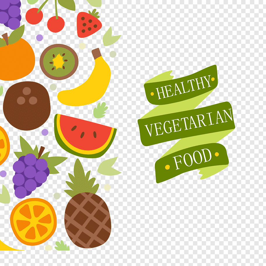 Assorted fruits illustration, Vegetarian cuisine Organic.