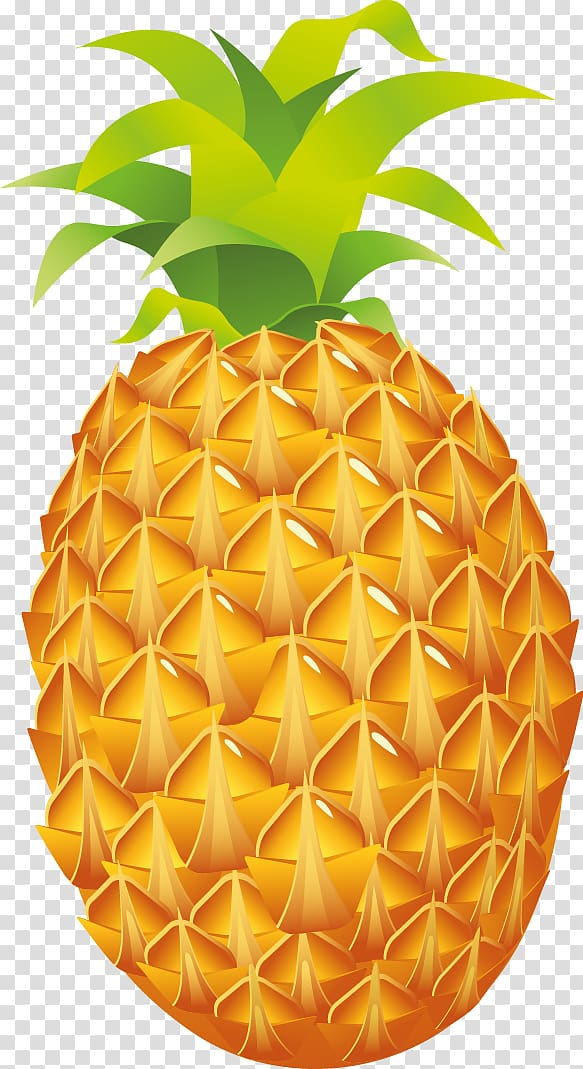Yellow and green pineapple illustration, Pineapple Luau.
