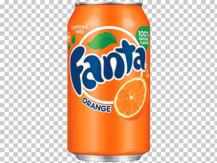 Fanta Orange Large Can, Fanta Orange soda can PNG clipart.