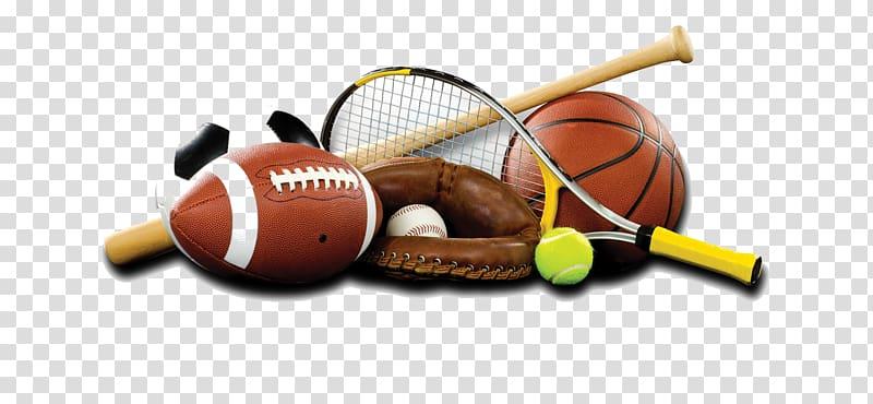 Assorted sports ball illustration, Sports equipment.