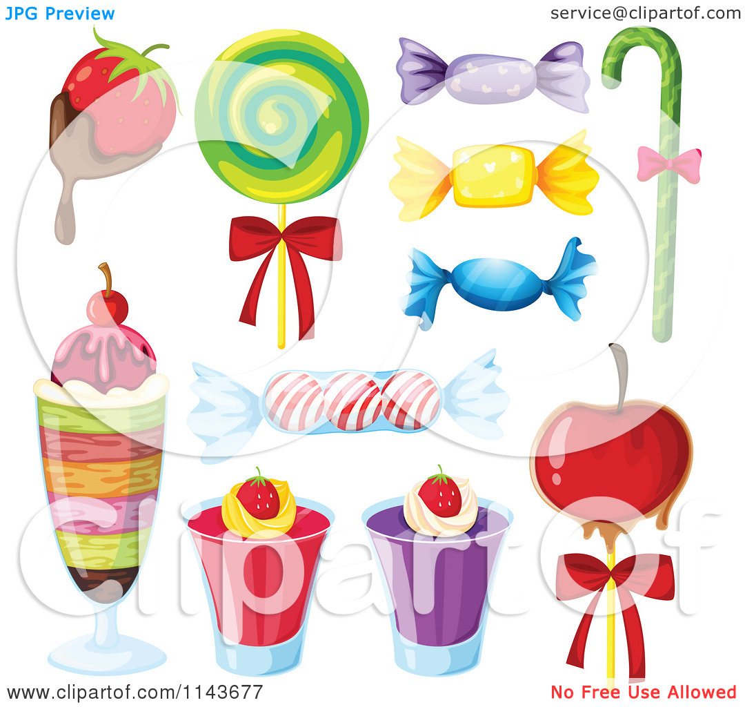 Cartoon Of An Assortment Of Sweets And Desserts 5.