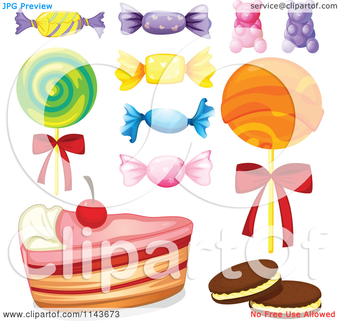 Cartoon Of An Assortment Of Sweets And Desserts 8.
