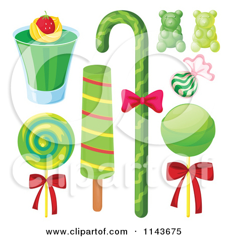 Cartoon Of An Assortment Of Sweets And Desserts 13.