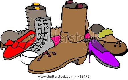 Clipart Illustration Assortment Footwear Stock Illustration 412475.