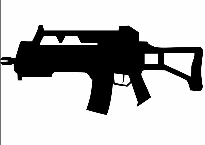 Free Clipart: Assault Rifle.