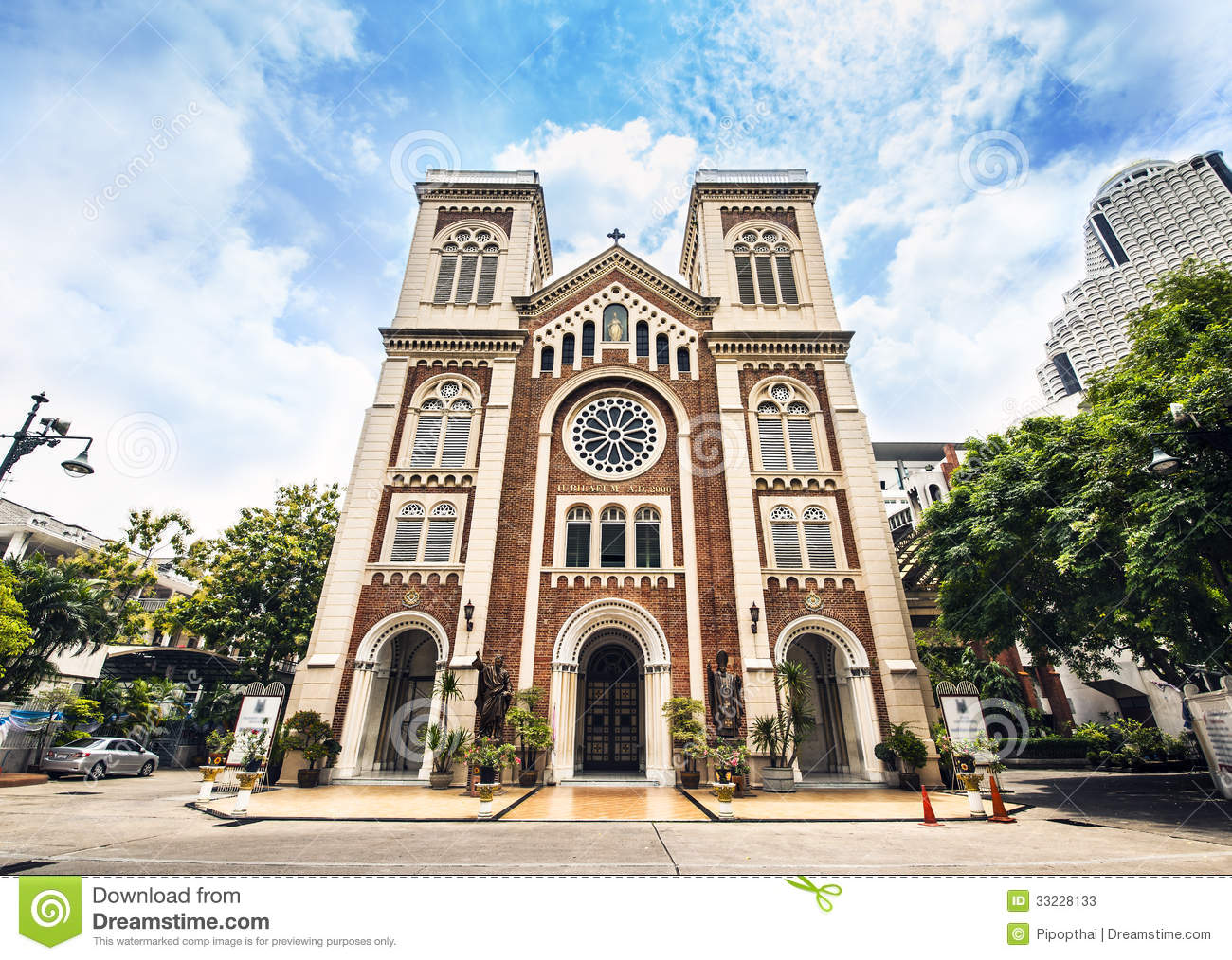 Church Of Asia Assumption Cathedral, Bangkok Thailand. Tourist.
