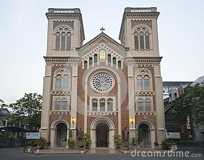 Assumption Cathedral, Bangkok Stock Photo.