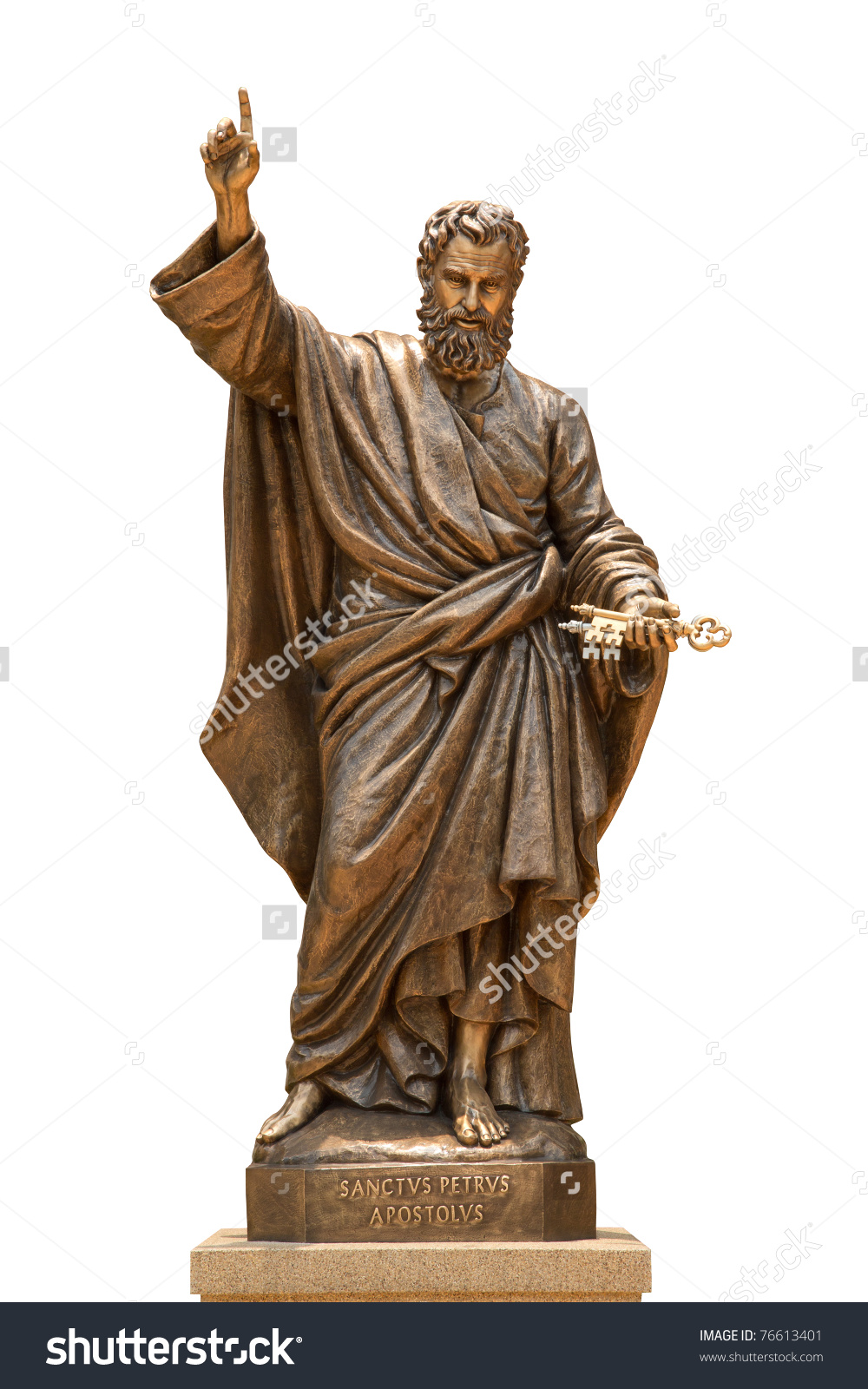 Statue St Peter Assumption Cathedral Thailand Stock Photo 76613401.